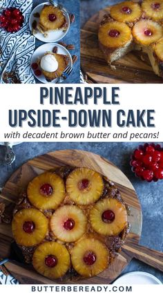 Southern Desserts, Southern Recipes, Best Dessert Recipes, Fun Desserts, I Love Food, Good Food, Decadent Cakes, Pineapple Upside Down Cake, Summer Fruit
