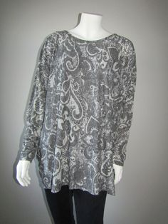 Lagenlook paisley top Paisley, Tunic Tops, Blouse, Long Sleeve, Sleeves, Clothes, Women, Fashion, Outfits
