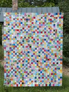 Postage Stamp Quilt - I love this type of quilt!
