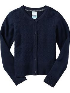 Girls Uniform Sweater Cardis