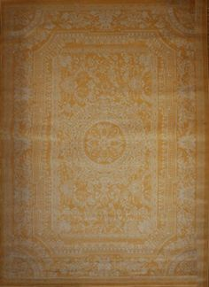 Yellow Traditional French Floral Wool Persian Area Rugs 7'10 x 10'5 by Feraghan/New City, http://www.amazon.com/dp/B00E7KW5B6/ref=cm_sw_r_pi_dp_tIltsb1Q12AAN