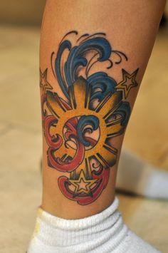 filipino sun polynesian tattoo by mike ekimoto at house of ink tattoo in kailua hawaii. Black Bedroom Furniture Sets. Home Design Ideas