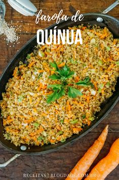 Receita: farofa de quínua - Blog da Ge Raw Food Recipes, Veggie Recipes, Great Recipes, Vegetarian Recipes, Healthy Recipes, Dairy Free Diet, Vegan Foods, Going Vegan, Good Food