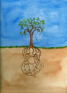 tree of life watercolor
