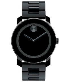 Movado Swiss Bold Large Black Polymer Bracelet Watch 42mm 3600047 - Movado - Jewelry & Watches - Macy's