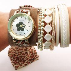 Relógio com estampa de Onça.    www.relogiosdadora.com.br