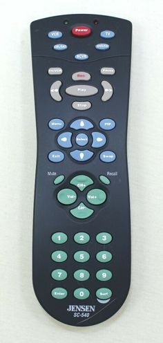 Jensen SC-540 Remote Control With Instructions #Jenson Remote, Store, Ebay, Storage, Shop