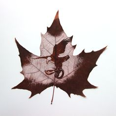 Special and unique home decoration, leaf vein carving, eagle