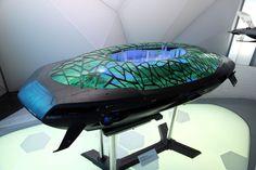 Hyundai designers envision the future of transportation. Hyundai Laputa - Flying City for the year.