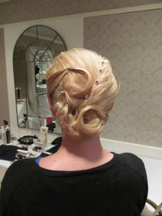 Formal up do . Wedding Up Do  Done by Cassandra at  : The Galleria Salon & Day Spa  Laconia, NH 03276   www.facebook.com/thegalleriasalon