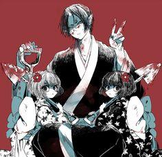 Hoozuki, Ichiko and Niko (Hoozuki no Reitetsu) Cute Anime Boy, I Love Anime, Manga Art, Anime Art, Fan Anime, Handsome Anime Guys, Art Series, Kawaii Anime, Anime Characters