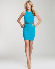 Open Back Belted Jersey Dress