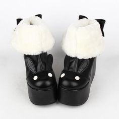 Kawaii Rabbit Ear Lolita Short Boots sold by SpreePicky. Shop more products from SpreePicky on Storenvy, the home of independent small businesses all over the world. Kawaii Fashion, Punk Fashion, Lolita Fashion, Gothic Fashion, Fashion Shoes, Fashion Outfits, Street Fashion, Kawaii Shoes, Kawaii Clothes