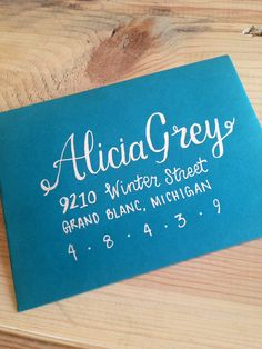 Kim & Alicia Style Hand Lettered Envelopes by dMPaperCompany