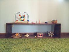 Simple home built bedroom shelf.