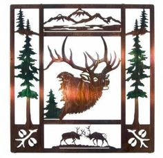 Lazart 20 Fall Bugle LaserCut Metal Wall Art with Color Wash Finish * Click on the image for additional details. (This is an affiliate link and I receive a commission for the sales)