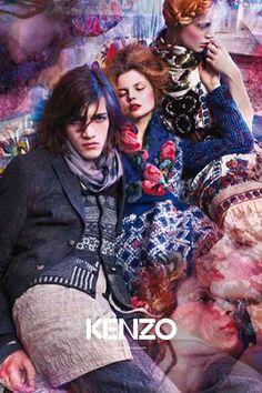 Kenzo Fall 2009 Ads Follow Their S/S '09 Hippie Theme trendhunter.com