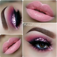 Pink smokey eye                                                                                                                                                                                 More