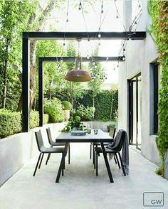 - Pergola Carport Car Ports How To Build - Small Backyard Pergola Covered Patios - Outdoor Furniture Sets, Outdoor Decor, Outdoor Rooms, House Exterior, Exterior Design, Garden Inspiration, Outdoor Dining, Small Courtyards, Outdoor Design