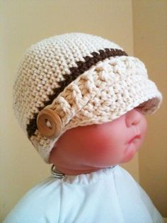 Looking for crocheting project inspiration? Check out Crocheted Baby Newsboy Hat by member TD Patterns. - via @Craftsy