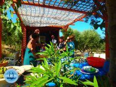 Cooking on Crete Crete Holiday, Crete Greece, Greece Holidays, Pergola, Fair Grounds, Outdoor Structures, Patio, Cooking, Outdoor Decor