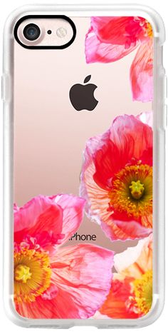 Casetify iPhone 7 Classic Grip Case - ALWAYS POPPIES by Monika Strigel iPhone 6 Transparent Case by Monika Strigel #Casetify