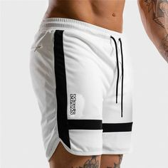 Mens summer new fitness shorts Fashion compression Fast drying gyms Bodybuilding Joggers shorts Slim fit clothing Sweatpants Jogger Shorts, Gym Shorts, Workout Shorts, Summer Shorts, Casual Shorts, Loose Shorts, Joggers, Estilo Fitness, White Casual