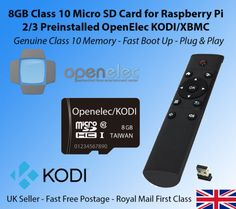 8gb micro sd card #raspberry pi 2 / 3 openelec kodi + wireless #media #remote,  View more on the LINK: 	http://www.zeppy.io/product/gb/2/112111102123/