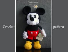 Tutorial Amigurumi Mickey Mouse : Free mickey mouse stuffed toy crochet patterns crocheted mickey
