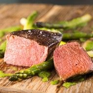 Beef Tenderloin with Pesto and Asparagus