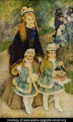 Madame Georges Charpentier and Her Children at park  Pierre Auguste Renoir