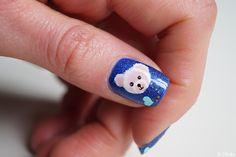 @pelikh_Nail art One Stroke - Oursons mignons ---- One stroke nails - Teddy bear