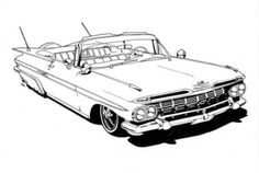 The Lowrider coloring book is ideal for your lil' jefe for the jolidays – En Güncel Araba Resimleri Ford Mustang, Mustang Cars, Truck Coloring Pages, Coloring Books, Coloring Sheets, Chevrolet Corvette, Chevy, Car Drawing Kids, Old School Cars