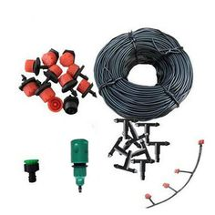 15m 20 Drip Nozzles DIY For Garden Watering Sprinklers Plants Irrigator Dripper Hose Kits Greenhouse Drip Irrigation System * Find out more details by clicking the image : home diy yard