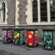Rubbish bin stickers