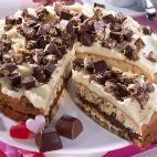 Knackige Schoko-Torte mit Extra-Küsschen
