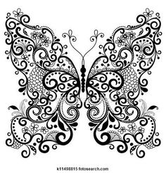 Stock Illustration of Decorative fantasy butterfly