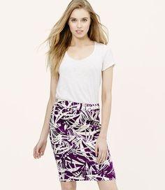 Ann Taylor Loft Mini Skirt Winter Berry