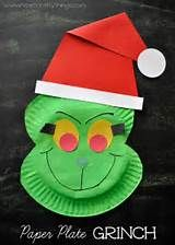 Paper Plate Grinch Craft | I Heart