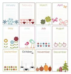 Free Printable Perpetual Calendars