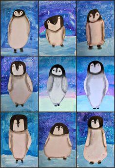 Kunst in der Grundschule: Pinguine