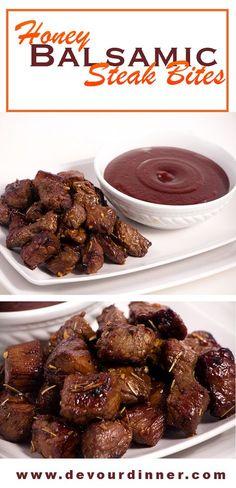 Honey Balsamic Steak Bites - Devour Dinner