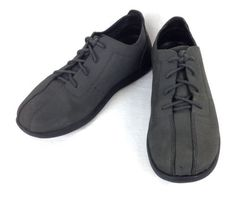 CROCS-Shoes-LEATHER-Gray-ATHLETIC-Lace-Up-COMFORT-Casual-OXFORDS-Mens-7-M