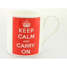 Mclaggan Smith GS192 Keep Calm & Carry On Mug Perfect for all occasions including Birthday, End of term, Fathers Day and of course those really rough times when your day has just gone from bad to worse. China Mug, Can be personalised,   £9 per mug, £4 track and trace postage orders over £40 free delivery