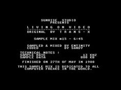 Living On Video by Sunrise Studio, 1988   Atari ST Music Demo   1440p/50fps - YouTube