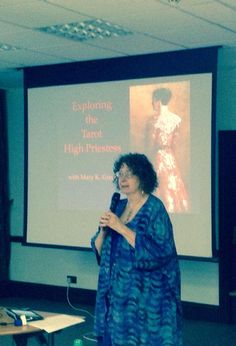 A High Priestess talking about the High Priestess. Mary K. Greer #tarot Conference London 2014