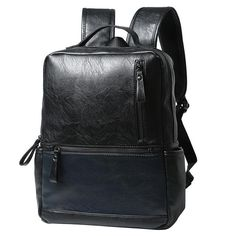 Leather Travel Laptop Backpack