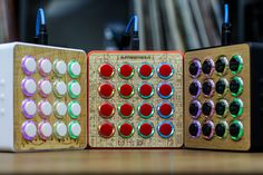 "Midi Fighter ""Spectra"" custom midi controller with optional wood tops."