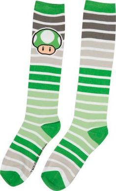 One-Up Mushroom Socks