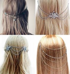 Back of hair chain piece
